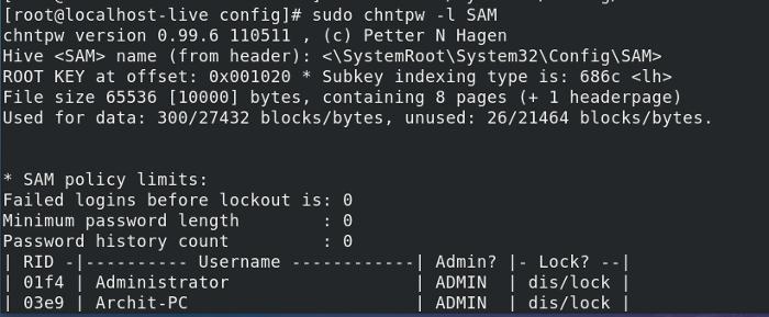 Resetting Windows 10/8/7 Password with Ubuntu Linux USB